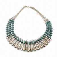 Wholesale Fashionable Necklace, Decorated with Abacus-bead Resin from china suppliers