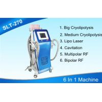 Buy cheap 6 In 1 Cryolipolysis Body Slimming Machine With Cavitation / Radio Frequency / Lipo Laser from Wholesalers