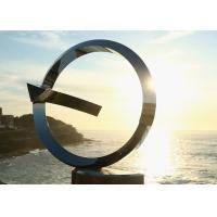 Buy cheap Mainstream Outdoor Metal Sculpture , Decoration Stainless Steel Circle Sculpture from wholesalers