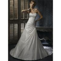 Wholesale Ivory Taffeta Wedding Dress Bridal Gown Embellished Lace from china suppliers