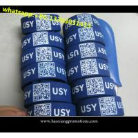 high quality low cost silicone wristbands ,custom debossed QR code ID silicone wristband for sale