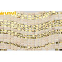 Wholesale Golden Wavy Luxury Mirror Mosaic Tiles Craft For KTV Decoration from china suppliers