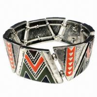 Wholesale Metal bracelet, made of zinc-alloy from china suppliers