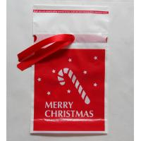 Wholesale Promotional Red Ribbon Drawstring Plastic Bags For Christmas Gift from china suppliers