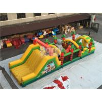Wholesale Challenging Inflatable Obstacle Course Bounce House Red , Blue , Black from china suppliers