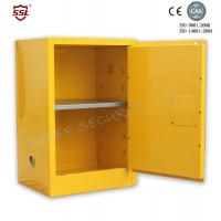 China Fire Resistant Yellow Safety Mobile Storage Cabinet , Flame Proof Cabinets 20 Gallon on sale