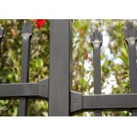 High Security Garrison Fencing Panels Interpon Powder Coated Black for sale