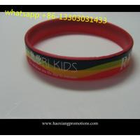 1 inch Manufacture high quality cheap custom debossed silicone wristband for sale