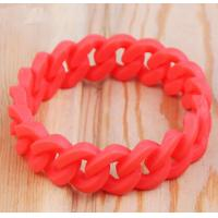 Fashion Solid Color Twist Silicone Wristband Bracelet For Arthritis19MM Width for sale