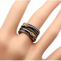 Wholesale Fashion Silver Gold Two -Tone Double X  Crossover Women Ring (R-90) from china suppliers