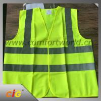 Quality 100% Polyester Geen Reflective Safety Vests with Tricot Fabric Design for sale