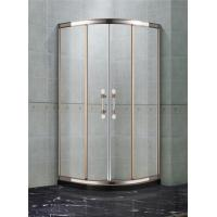 China Rose Gold Stainless Steel Quadrant Shower Enclosures With Two Center Pillar on sale