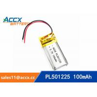 Wholesale 501225 pl501225 3.7v lipo battery with 100mAh rechargeable small battery for POS machine, sphygmonanometer from china suppliers