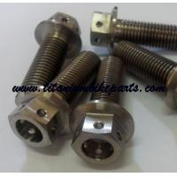 Wholesale Excellent Low Price GR5 M8 Titanium Flange Hexagon Head Racing Drilled Hole Bolt With Safe Wire from china suppliers