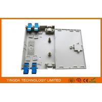 Buy cheap 4 Fibers FTTH Optical Fiber Termination Box Pre - terminated With SC FC LC ST Adapter Pigtails from Wholesalers