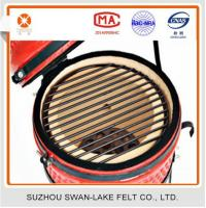 Quality 300 degree Heat Resistant BBQ smoker chamber gasket Black Nomex felt for sale