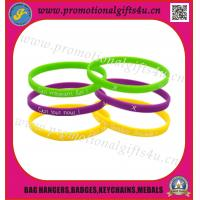 silicone wristband with printing logo for sale