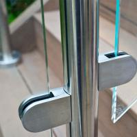 Wholesale Frameless Glass Guard Deck Railing with Solid Clamps Made In China from china suppliers