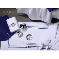 Wholesale Cotton Bath Foot Towel For Developing Countries Blue Embroidery from china suppliers