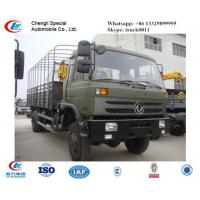 China dongfeng 4*4 knuckle boom mounted on truck, hot sale dongfeng truck with crane for sale, best price crane truck for sale