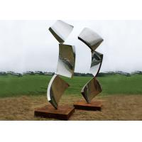 Wholesale Outside Design Abstract Metal Garden Sculptures , Modern Lawn Sculpture from china suppliers