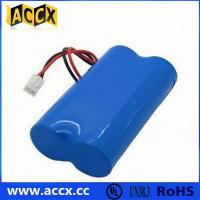 Wholesale 7.2V lithium battery pack with connector in series from china suppliers