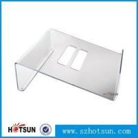 Wholesale Acrylic Notebook Holder, Lucite Laptop Desk stand, Plexiglass Notebook Riser from china suppliers