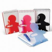Wholesale Notebooks for Promotional and School Use, Made of PVC, Small Orders are Welcome from china suppliers