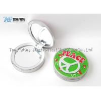 Compact Round Custom Pocket Makeup Mirror OEM For Promotional