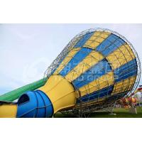 Wholesale Custom Outdoor Fiberglass Tornado Water Slide For Adults , 14.6m Platform Height from china suppliers