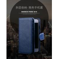 Buy cheap Magnetic Clip Leather Iphone 6 Plus Wallet Case Detachable Dark - Blue from wholesalers