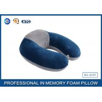 Wholesale Colorful Portable Memory Foam Travel Neck Pillow With Innovational Cover from china suppliers