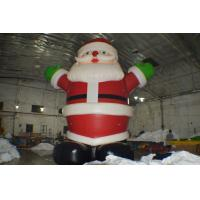Wholesale Inflatable Advertising Products , Inflatable Outdoor Santa Claus with Logo Printing from china suppliers