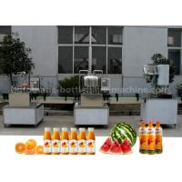 Wholesale Orange Small Scale Juice Bottling Equipment , Rotary Sealing Automatic Bottle Filling Machine from china suppliers