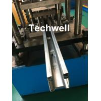 Wholesale Custom Made Guide Rail Roll Forming Machine For Making Sliding System Devices With Hydraulic Punching from china suppliers