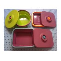 Wholesale collapsible  silicone round  lunch box ,silicone partable  lunch box manufacturers from china suppliers