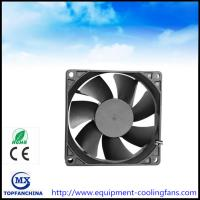 Quality 48V DC 92MM Brushless Fan , 4000rmp Commercial Compact Desktop Cooling Fan CE ROHS for sale