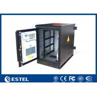 China Heat Insulated Wall Mount Steel Outdoor Telecom Cabinet With Air Conditioner Cooling on sale
