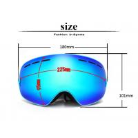 Quality Youth Snowboard Goggles , OTG Snow Goggles With Anti - Fog UV400 Lens TPU Frame for sale