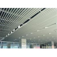 Customized Aluminium Strip Ceiling For Supermarket / Railway Station for sale