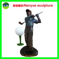 Buy cheap life size sport series  golf man statues  bronze color for sale from wholesalers