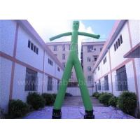 China Green Inflatable Advertising Man 20ft Inflatable Wavy Arm Guy With 2 Legs on sale