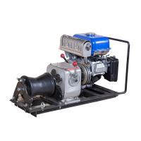China JJM1Q Line Construction 1 Ton Winch , Cable Pulling Gasoline Powered Winch on sale