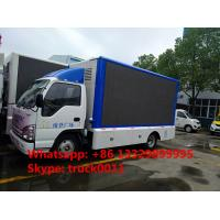 China HOT SALE! 2019s new ISUZU 4*2 LHD mobile LED truck with 3 sides P6 LED screens, best price ISUZU P6 LED billboard truck for sale