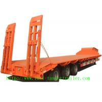 Buy cheap 40ft Dimensions tri-axle lowbed semi trailer truck and high bed  truck semi trailer from wholesalers