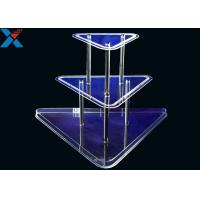 Wholesale Clear 3 Layer Acrylic Wine Holder , Lucite Display Stands Durable And Chemical Stability from china suppliers
