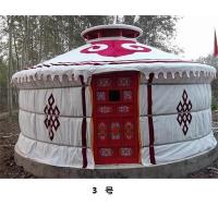 Anti - Snow Yurt Style Camping Tent ,  Heat Preservation Mongolian Nomad Tent