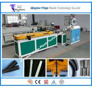 China Plastic Extrusion Machine PE PVC PA PP Flexible Conduits Single Wall Corrugated Pipe Manufacture Machine on sale