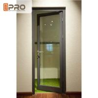 Water Penetration Prevent Aluminium Hinged Doors 1.2-2.0MM Profile Thickness for sale