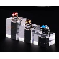 Wholesale Acrylic Jewellery Display Stands Diamond Ring Ring Display Tray Plinth Cube Crystal Shrink from china suppliers